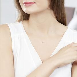 Collier Nylon Argent Blanc Oxyde De Zirconium - Colliers fantaisie Femme | Histoire d'Or