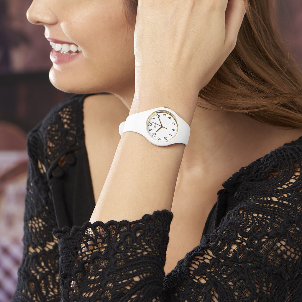 Montre Ice Watch Glam Blanc - Montres sport Femme | Histoire d'Or