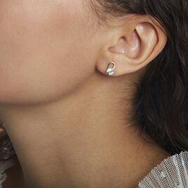 Boucles D'oreilles Puces Or Jaune Berecyntia Topaze - Clous d'oreilles Femme | Histoire d'Or