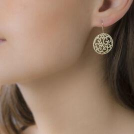 Boucles D'oreilles Pendantes Satine Or Jaune - Boucles d'oreilles pendantes Femme | Histoire d'Or