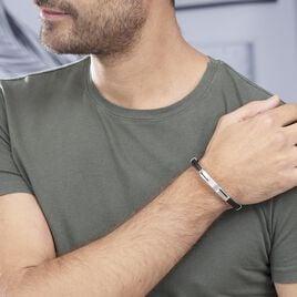 Bracelet Oscar Acier Blanc - Bracelets fantaisie Homme   Histoire d'Or