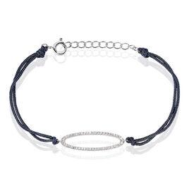 Bracelet Myrto Argent Blanc Oxyde De Zirconium - Bracelets cordon Femme   Histoire d'Or