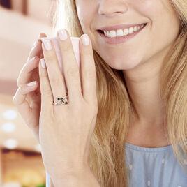 Bague Accorus Argent Blanc Ambre - Bagues avec pierre Femme | Histoire d'Or
