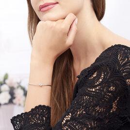 Bracelet Jonc Ania Argent Blanc - Bracelets fantaisie Femme | Histoire d'Or
