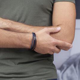 Bracelet Romain Acier Blanc - Bracelets fantaisie Homme   Histoire d'Or