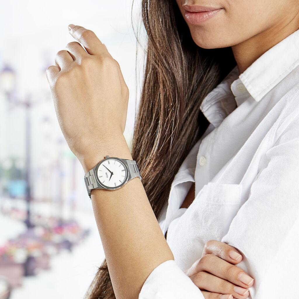 Montre Cluse Vigoureux Blanc - Montres Femme   Histoire d'Or