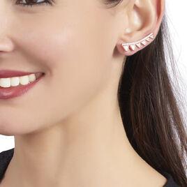 Bijoux D'oreilles Smita Argent Rose Oxyde De Zirconium - Boucles d'oreilles fantaisie Femme | Histoire d'Or