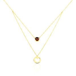 Collier Or Jaune Quartz - Colliers Coeur Femme   Histoire d'Or
