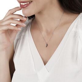 Collier Sculptural Or Blanc Diamant - Bijoux Femme   Histoire d'Or
