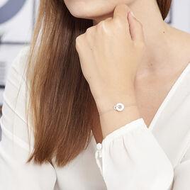 Bracelet Anjeza Argent Blanc - Bracelets fantaisie Femme | Histoire d'Or