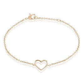 Bracelet Saona Plaque Or Jaune - Bracelets Coeur Femme | Histoire d'Or