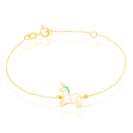 Bracelet Orelia Licorne Or Jaune - Bracelets Naissance Enfant   Histoire d'Or