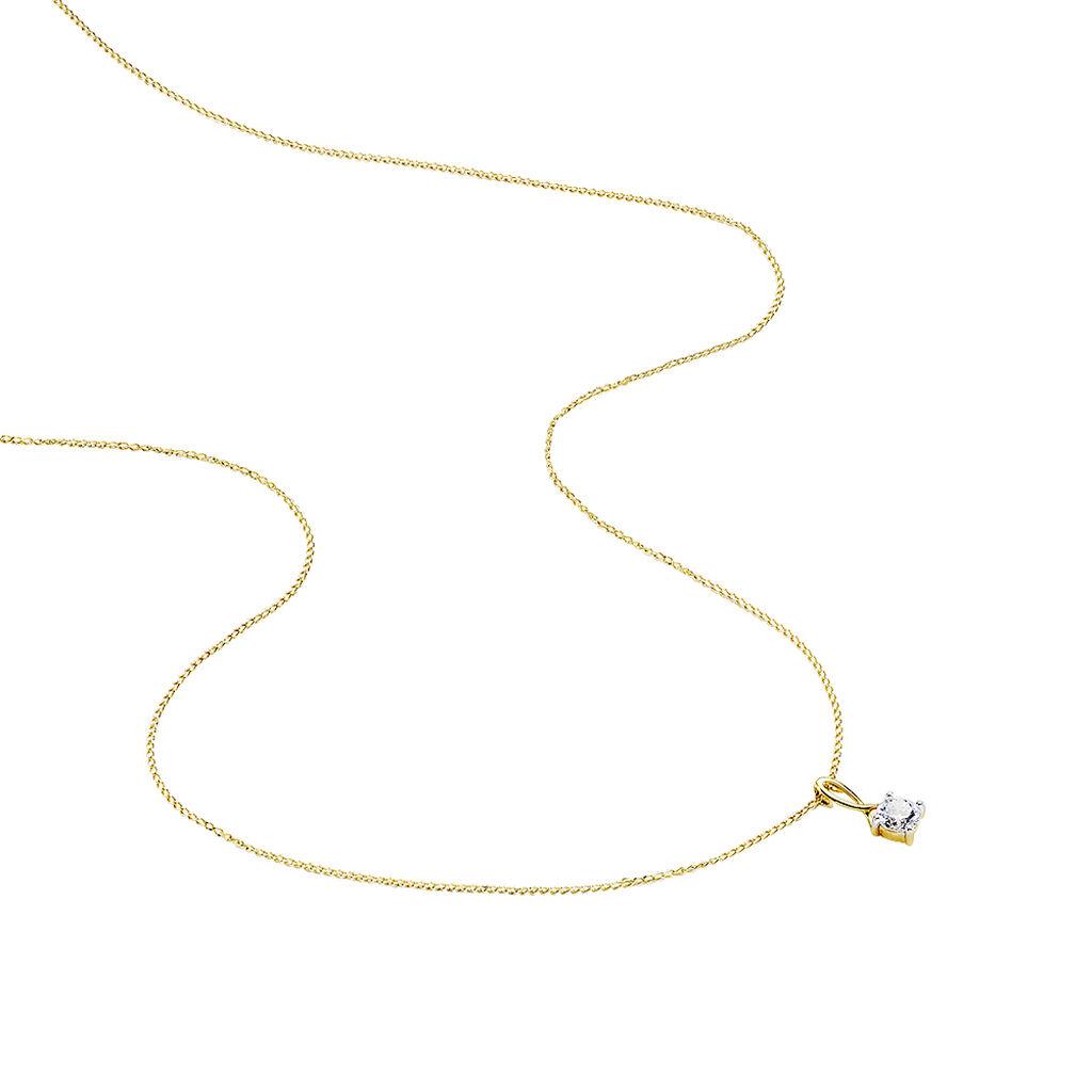 Collier Karlena Or Jaune Oxyde De Zirconium - Bijoux Femme   Histoire d'Or