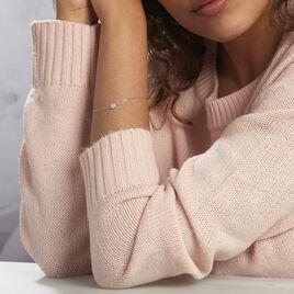 Bracelet Auxana Argent Blanc Oxyde De Zirconium - Bracelets fantaisie Femme   Histoire d'Or
