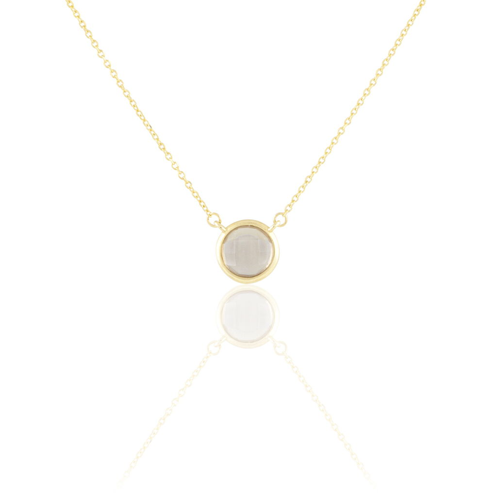 Collier Arenale Or Jaune Quartz
