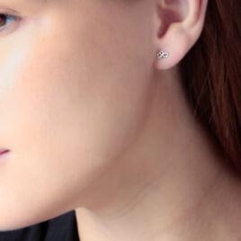 Boucles D'oreilles Puces Floe Or Jaune Diamant - Clous d'oreilles Femme | Histoire d'Or