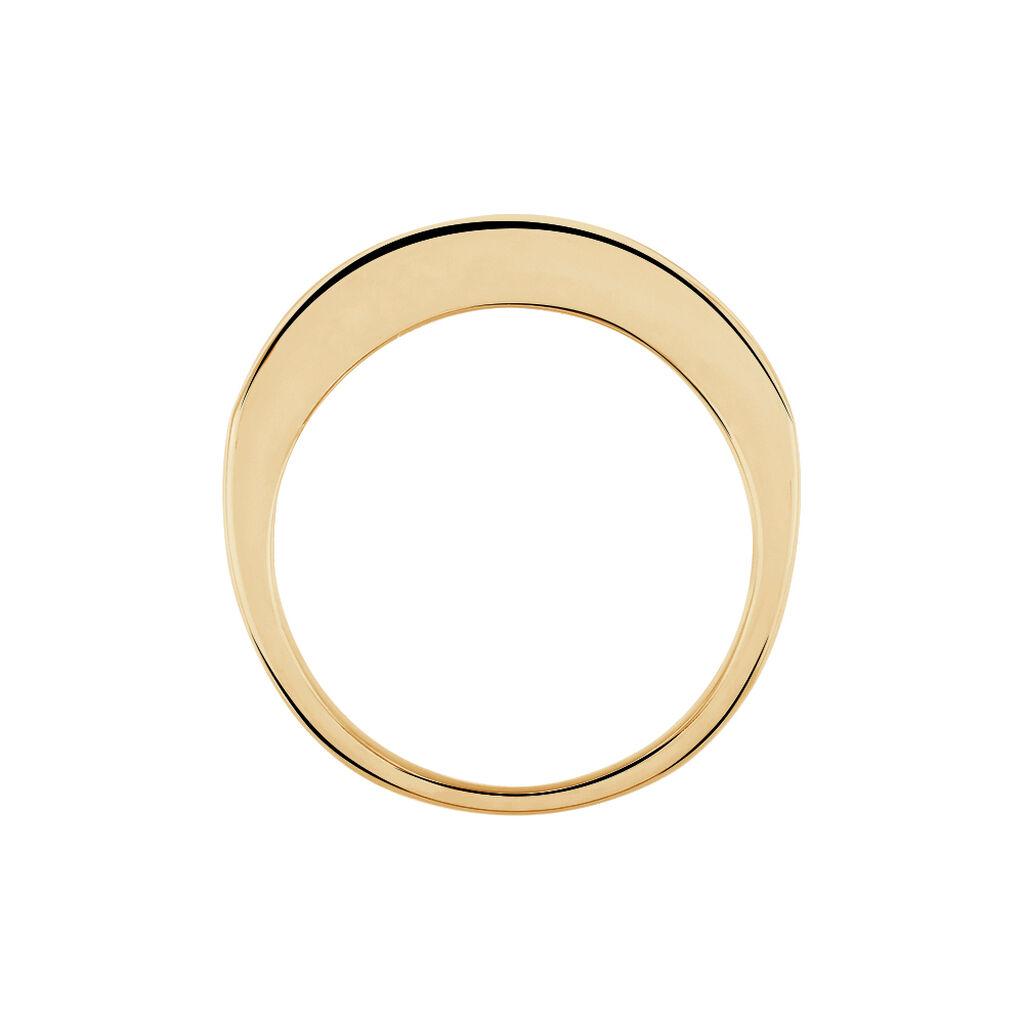 Bague Isea Plaque Or Jaune Oxyde De Zirconium - Bagues avec pierre Femme | Histoire d'Or