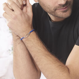 Bracelet Kim Argent Blanc - Bracelets cordon Homme | Histoire d'Or