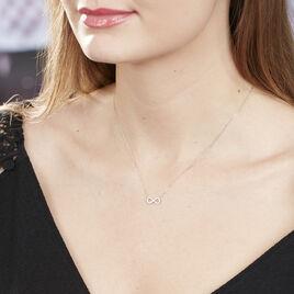 Collier Klothilda Or Blanc Oxyde De Zirconium - Colliers Infini Femme | Histoire d'Or