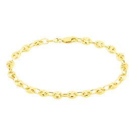 Bracelet Eris Maille Grain De Cafe Or Jaune - Bracelets chaîne Femme | Histoire d'Or
