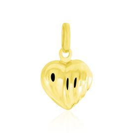 Pendentif Eudocie Coeur Stri Or Jaune - Pendentifs Coeur Unisexe | Histoire d'Or