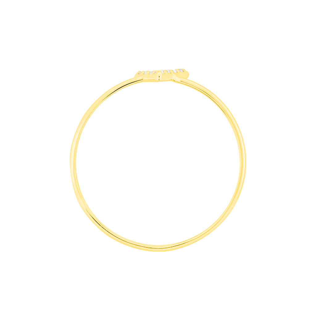 Bague De Phalange Celene Or Jaune Oxyde De Zirconium - Bagues Femme | Histoire d'Or