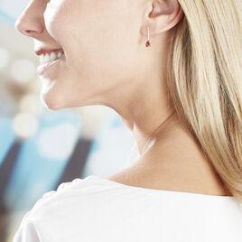 Boucles D'oreilles Or Jaune Poire Rubis - Boucles d'oreilles pendantes Femme | Histoire d'Or