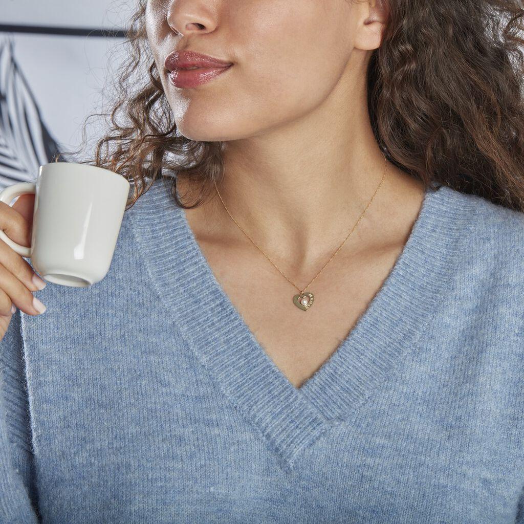 Collier Maxima Or Jaune Perle De Culture - Colliers Coeur Femme | Histoire d'Or