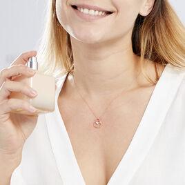 Collier Edima Or Rose Oxyde De Zirconium - Bijoux Femme   Histoire d'Or