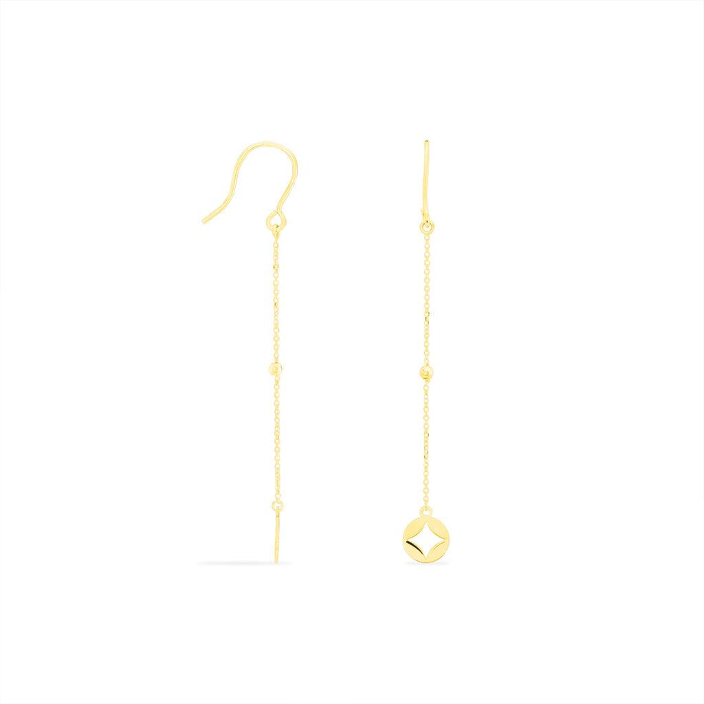 Boucles D'oreilles Pendantes Kalia Or Jaune - Boucles d'Oreilles Trèfle Femme | Histoire d'Or