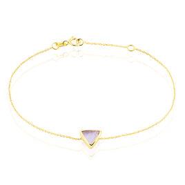 Bracelet Or Jaune Amethyste - Bijoux Femme   Histoire d'Or