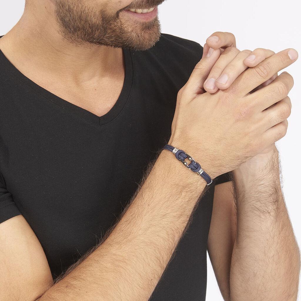 Bracelet Mariska Acier Bicolore - Bracelets cordon Homme | Histoire d'Or