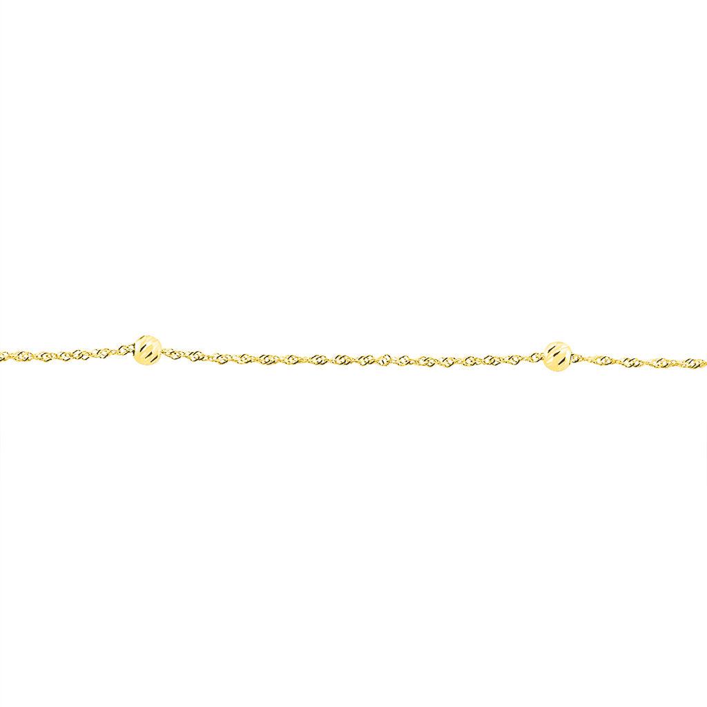 Chaîne De Cheville Zahia Or Jaune - Chaînes de cheville Femme | Histoire d'Or