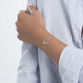 Bracelet Shone Argent Rhodié Oxyde De Zirconium - Bijoux Etoile Femme   Histoire d'Or