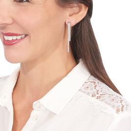 Boucles D'oreilles Pendantes Louanne Argent Blanc Oxyde De Zirconium - Boucles d'oreilles pendantes Femme | Histoire d'Or