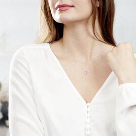 Collier Eliana Or Blanc Topaze Et Oxyde De Zirconium - Colliers Coeur Femme | Histoire d'Or