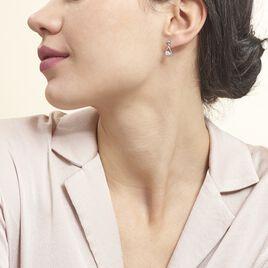 Boucles D'oreilles Puces Bethilda Argent Blanc Oxyde De Zirconium - Boucles d'oreilles fantaisie Femme | Histoire d'Or