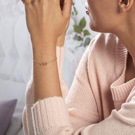 Bracelet Castilla Argent Rose - Bracelets Infini Femme   Histoire d'Or