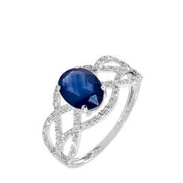 Bague Tina Or Blanc Saphir Et Diamant - Bagues avec pierre Femme | Histoire d'Or