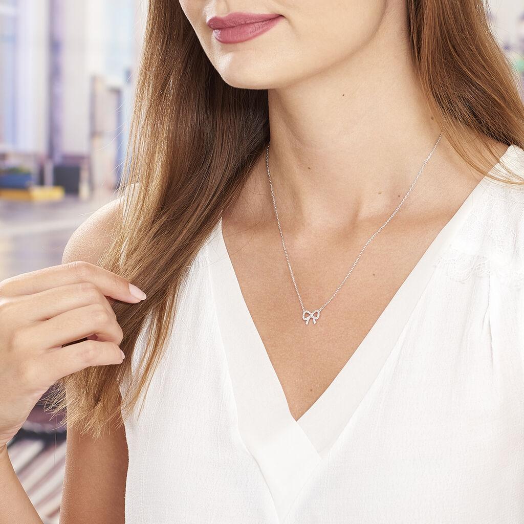 Collier Rezzan Argent Blanc Opale - Colliers fantaisie Femme | Histoire d'Or
