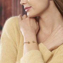 Bracelet Jonc Davina Boules Or Jaune - Bracelets joncs Femme | Histoire d'Or