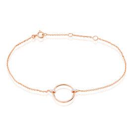 Bracelet Or Rose Anea Cercle Diamants - Bijoux Femme | Histoire d'Or