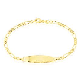 Bracelet Identité Bartolomee Maille Alternee 1/3 Or Jaune - Bracelets Communion Enfant | Histoire d'Or