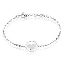 Bracelet Lova Argent Blanc - Bracelets Coeur Femme | Histoire d'Or