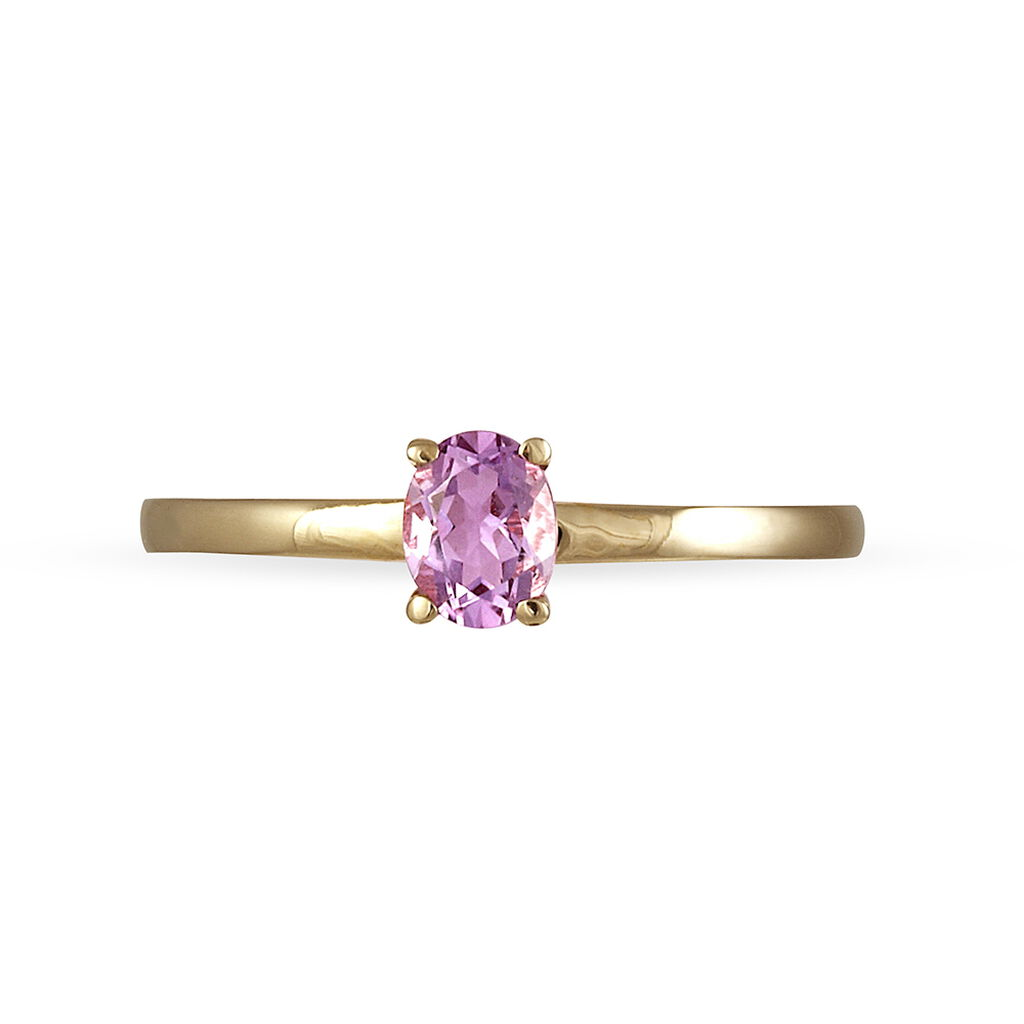 Bague Lily Or Jaune Amethyste