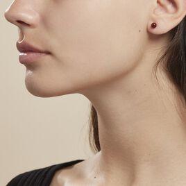 Boucles D'oreilles Puces Brunhild Argent Blanc Ambre - Boucles d'oreilles fantaisie Femme | Histoire d'Or