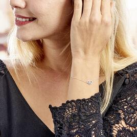 Bracelet Or Blanc Eliana Topaze Oxydes - Bracelets Coeur Femme | Histoire d'Or