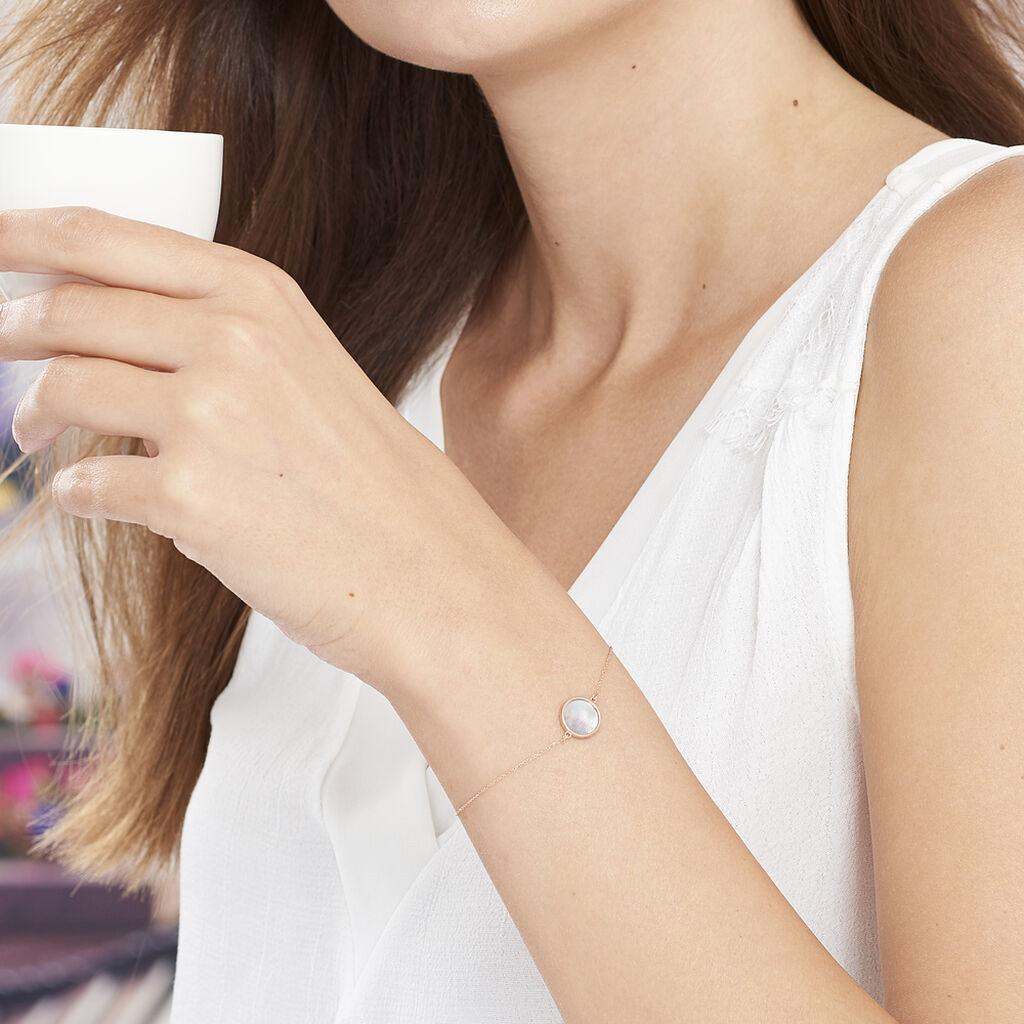 Bracelet Joana Or Rose Nacre - Bijoux Femme   Histoire d'Or