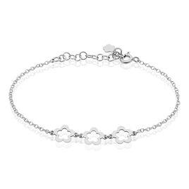 Bracelet Lucilla Argent Blanc - Bracelets fantaisie Femme | Histoire d'Or