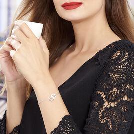 Bracelet Dina Argent Blanc Céramique Et Oxyde De Zirconium - Bracelets fantaisie Femme | Histoire d'Or